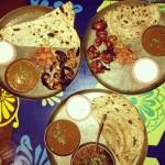Our delicious thalis at Papa Pancho in Bandra.