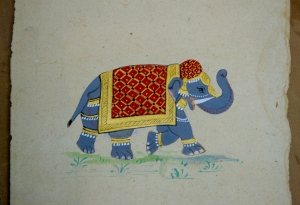 I chose to stick to one object and paint a 'royal' elephant! It was hard work getting all of the small details!